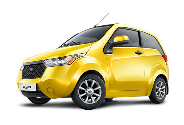 Mahindra e2o in yellow color