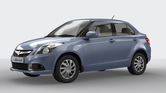 Maruti Swift Dzire in Alp Blue Color