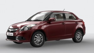 Maruti Swift Dzire in Sangria Red