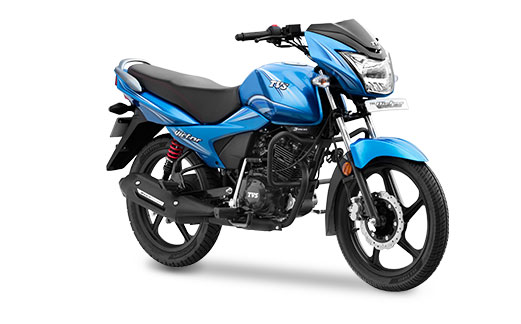 New 2016 TVS Victor in Blissful Blue Color
