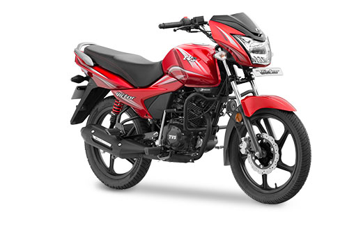 2016 TVS Victor in Restful Red Color