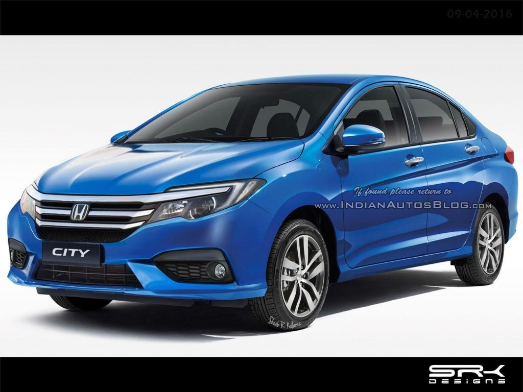 New Honda City Facelift Rendering