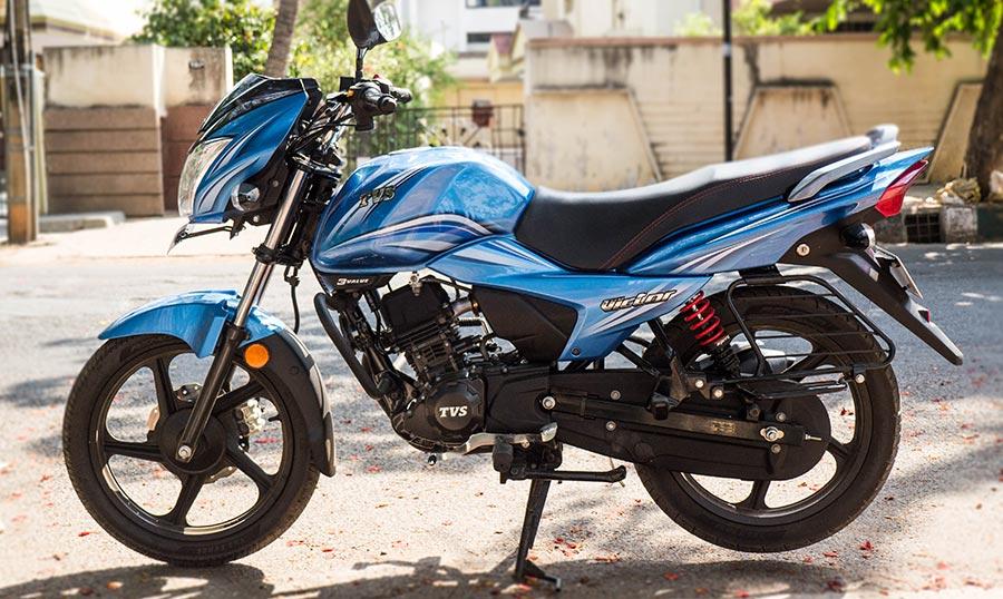 TVS Victor 1 lakh Unit Sales