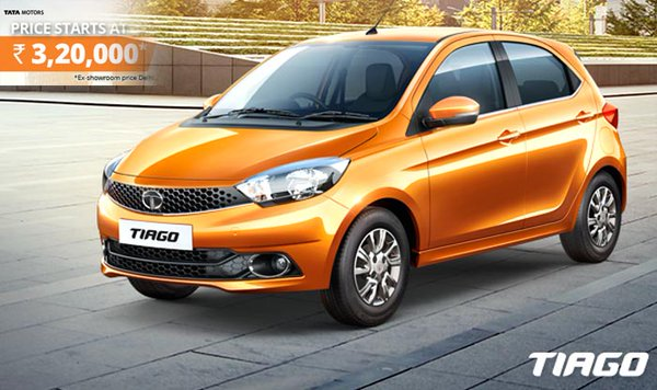 Tata Tiago Priced at INR 3.2 lakhs(ex-showroom Delhi)