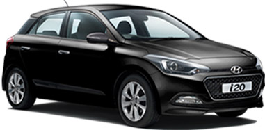 Hyundai Elite i20 in Black Color (Phantom Black)