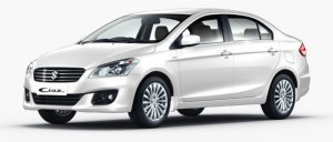 Maruti Ciaz Pearl Snow White Color