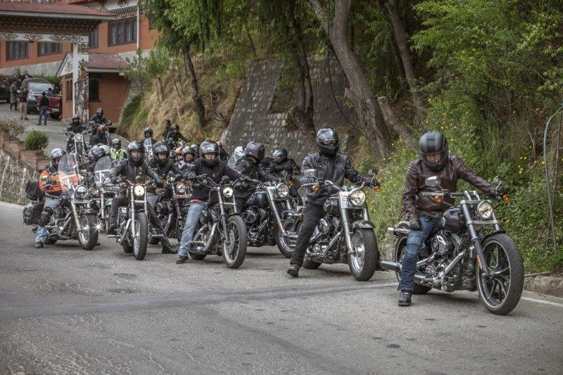 Harley Davidson riders during International HOG Ride