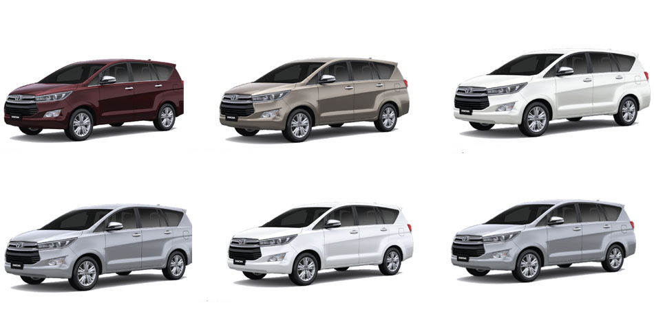 Toyota Innova Crysta All Colors