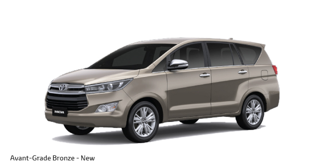 Toyota Innova Crysta Colors Red Bronze White Grey