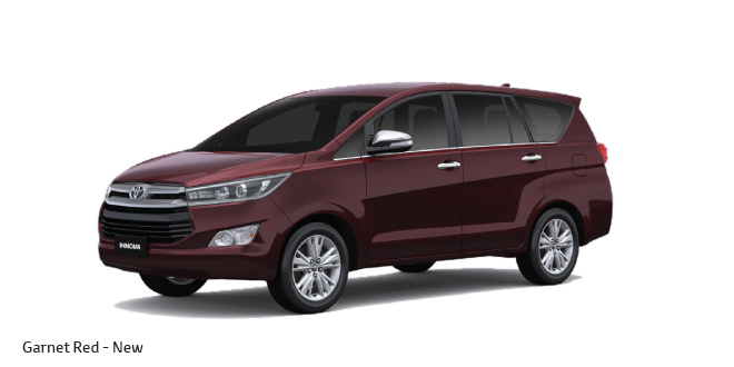 New Toyota Innova Crysta Garnet Red Color (New Color)