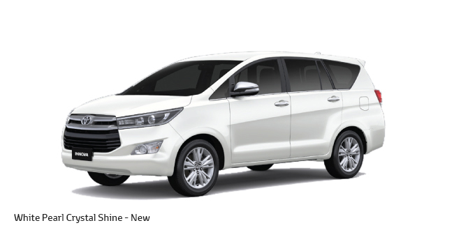 Toyota Innova Crysta in White Shine Color (New Color Introduction: White Pearl Crystal Shine )