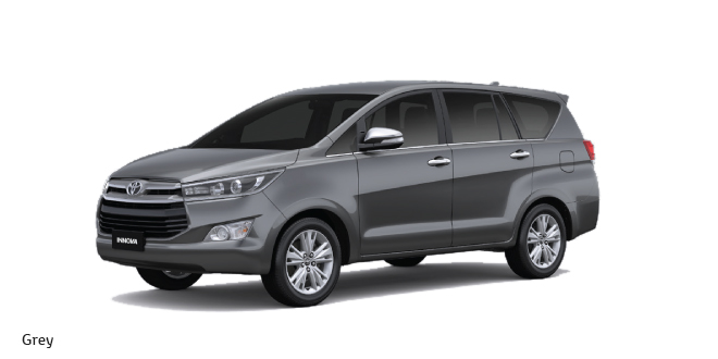 Toyota Innova Crysta is available in Grey Color