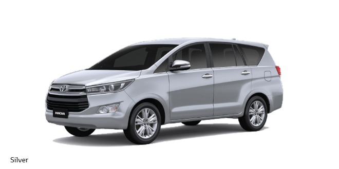 All new Toyota Innova Crysta in Silver Color