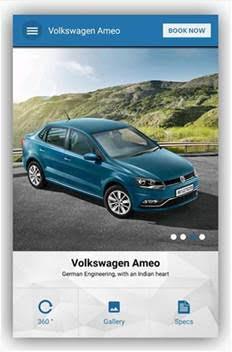 Volkswagen Ameo Mobile App