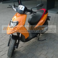 Aprilia SR150 Spotted near Pune Dealership