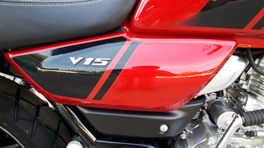 Bajaj V15 Cocktail Red Color