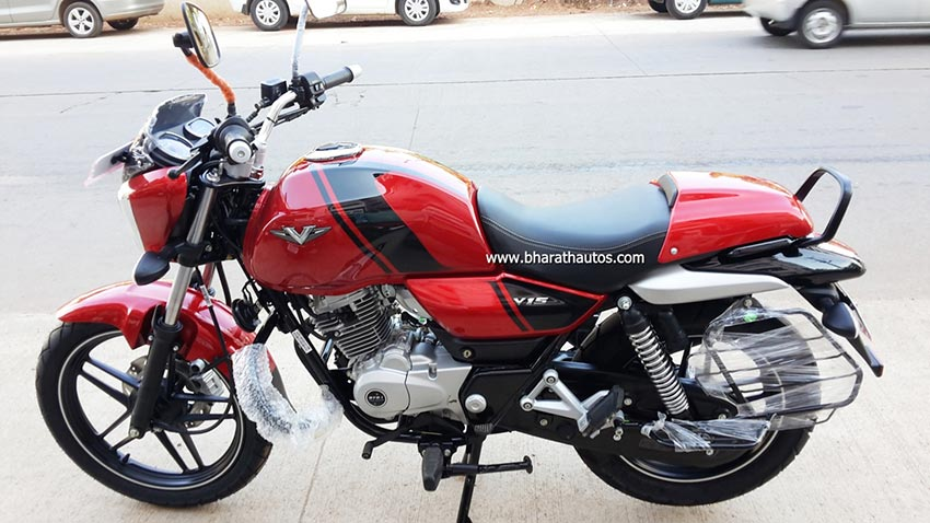 Bajaj V15 Cocktail Red Color spotted