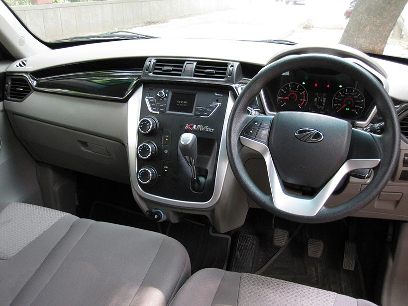 Mahindra KUV100 Interior + Steering Wheel