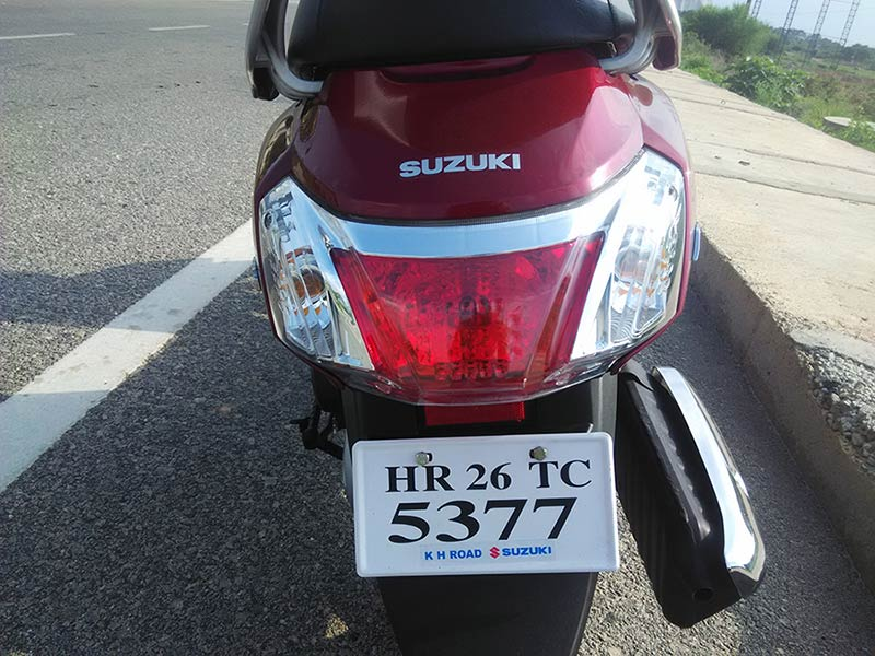 New Suzuki Access 125 Taillamp