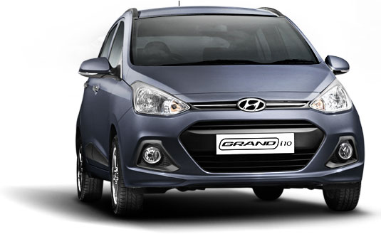Hyundai Grand i10 in Twilight Blue Color