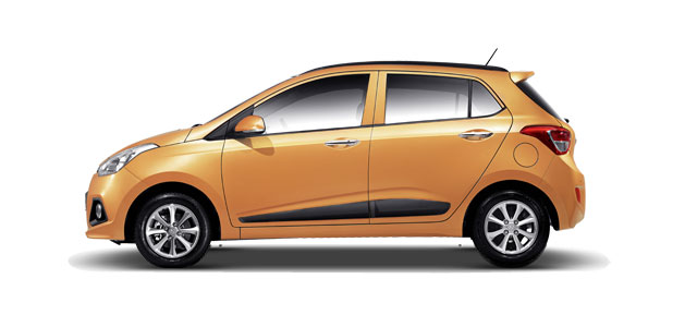 Hyundai Grand i10 Colors - Golden Orange