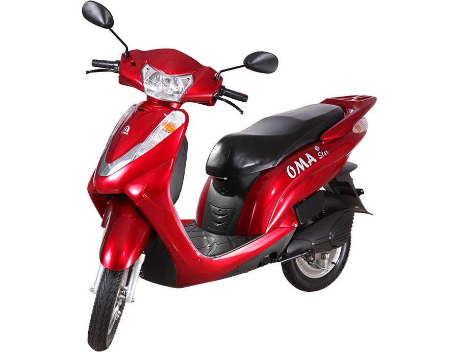 Lohia Auto Oma Star Ebike in Red Colors