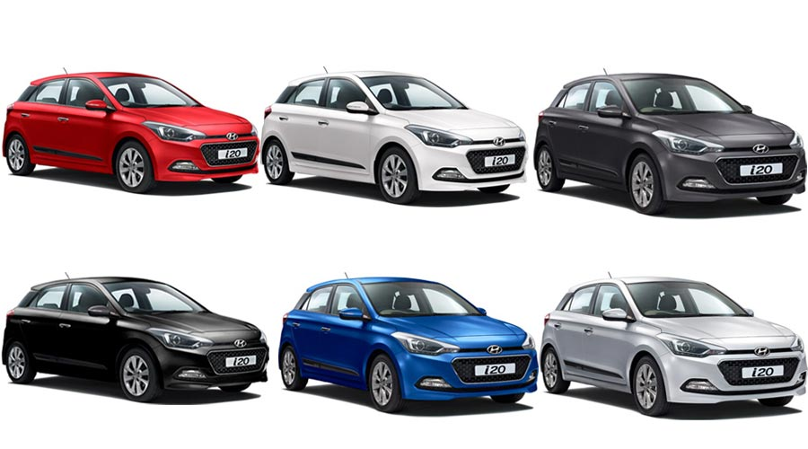 Hyundai Elite I20 Colors