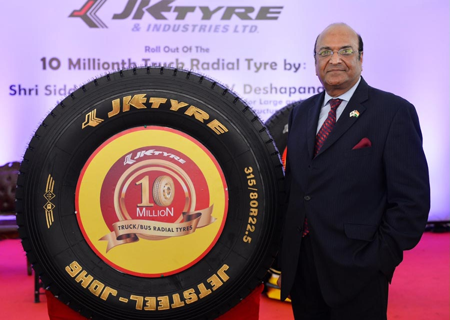 JK Tyre 10 Millionth Radial Tyre