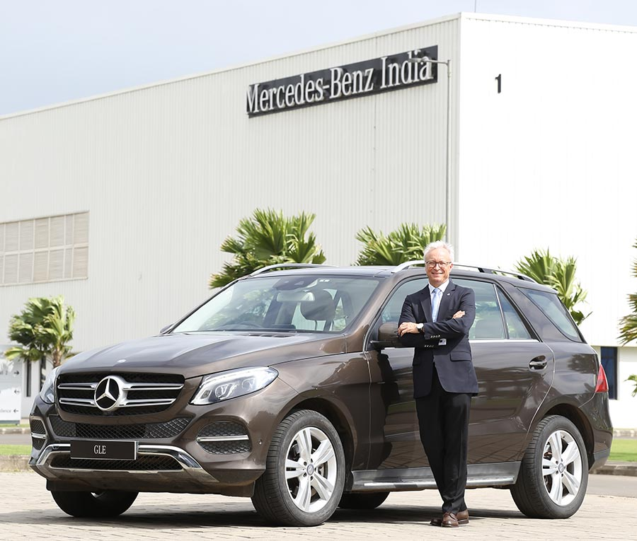 mercedes benz india launches the gle 400 4matic in petrol