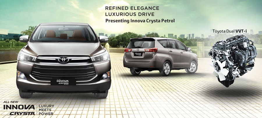 Toyota Innova Crysta Petrol Variants and Price List