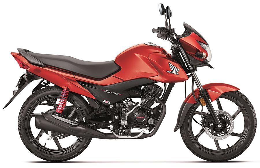 Honda Livo Imperial Red Metallic Color