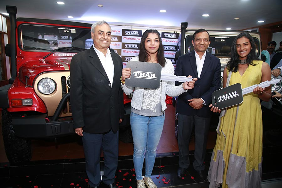 Mahindra Thar Presented to Olympic Medal Winners