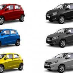 Maruti Celerio Colors: Red, Black, Blue, Grey, Silver, Sunshine Ray