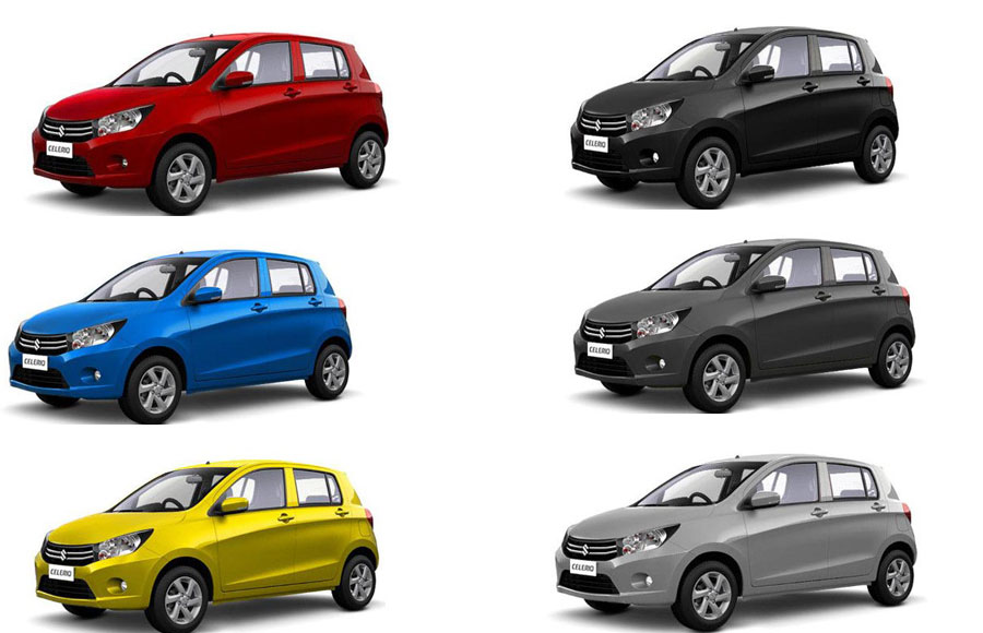 Maruti Celerio All Colors