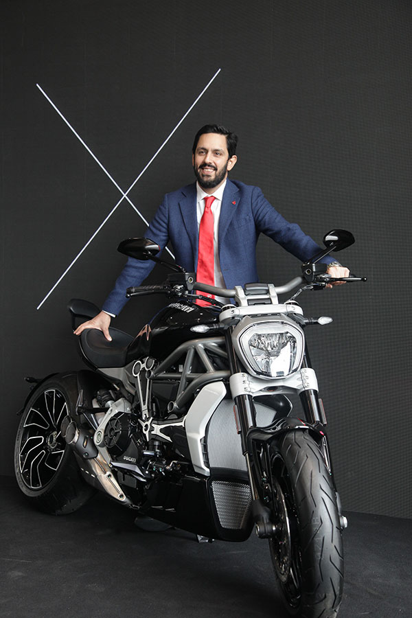 Ravi Avalur Ducati MD with XDiavel