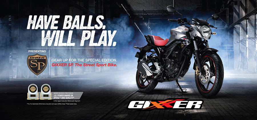 Suzuki Gixxer SP Advertisement Photo