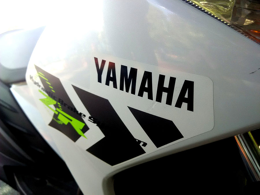 Yamaha Logo on Scooter