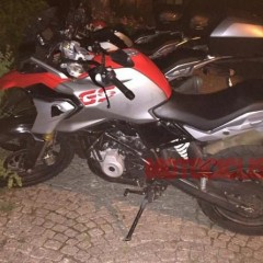 BMW F310 GS in Red Silver Spotted