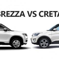 Maruti Vitara Brezza vs Hyundai Creta : Specs Comparison