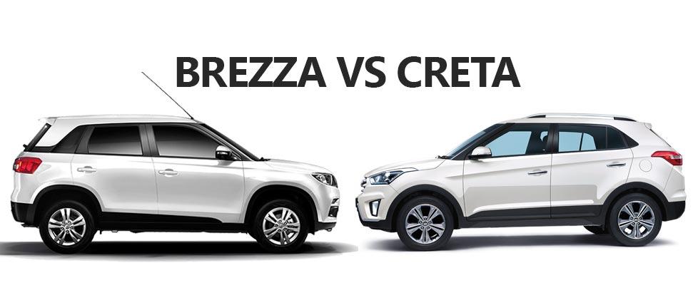 Maruti Vitara Brezza Vs Hyundai Creta Specs Comparison
