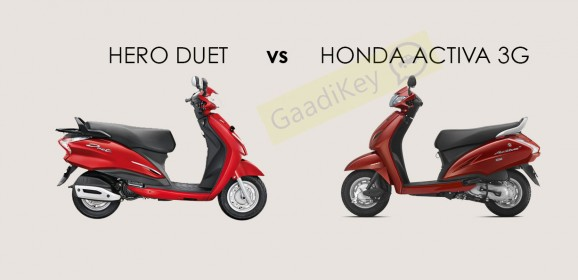 Hero Duet vs Honda Activa 3G: Specs Comparison