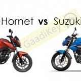 Honda Hornet vs Suzuki Gixxer : Specs comparison