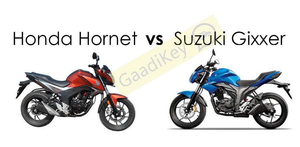 Honda Hornet vs Suzuki Gixxer