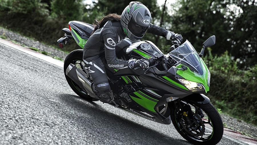 Kawasaki Ninja 300 Black Green Color