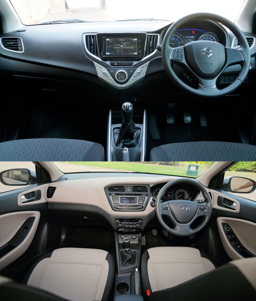 Maruti Baleno Interior vs Hyundai i20 Elite Interior