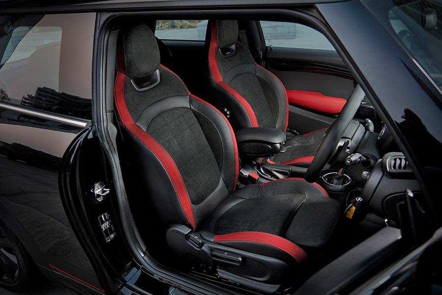 Interiors of Mini Cooper S Carbon Edition