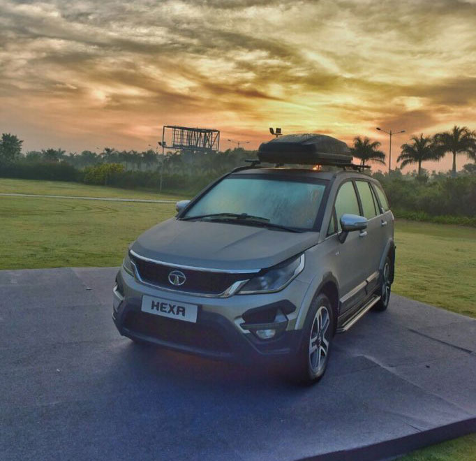Tata Hexa Sunset Photos