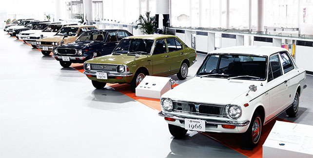 Toyota Corolla 1966 Displayed in Showroom