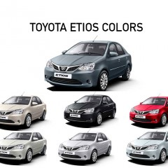 Toyota Etios Colors: White, Red, Grey, Silver, Black, Beige