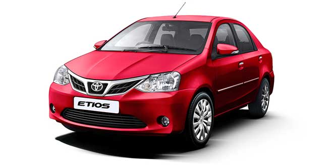 Toyota Etios Red Color ( Vermilion Red Color)